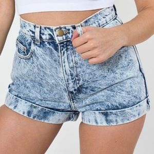 acid washed american apparel shorts